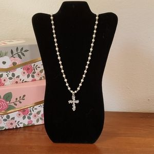 Cookie Lee Cross necklace NWT